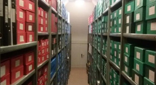 View of the archive of the Catholic Diocese of Brentwood, a valuable source of information about the modern history of Barking and Dagenham.